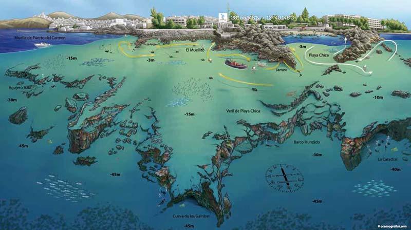 Las mejores inmersiones de Lanzarote - El Muellito
