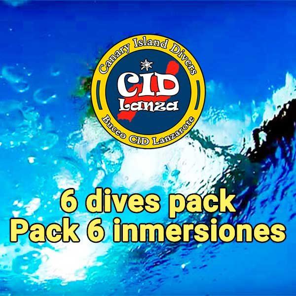 Pack de 6 inmersiones CID Lanzarote