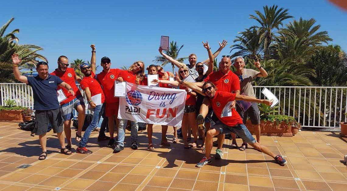 IDC PADI en Lanzarote