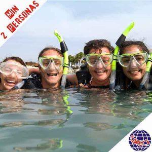 Oferta. Bautizo de buceo en el mar 2 inmersiones (PADI DSD)