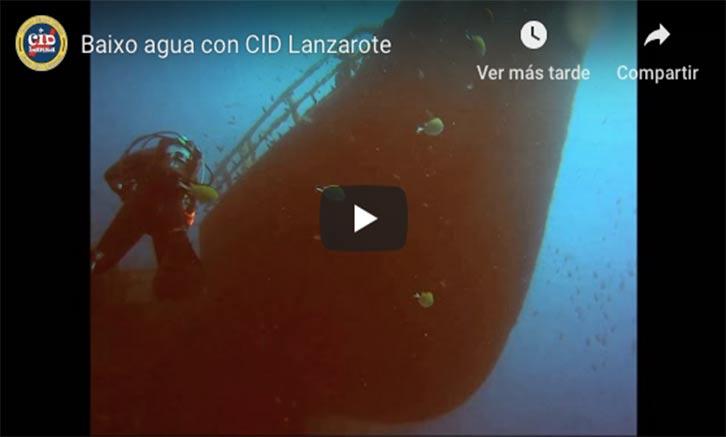 Baixo agua con CID Lanzarote